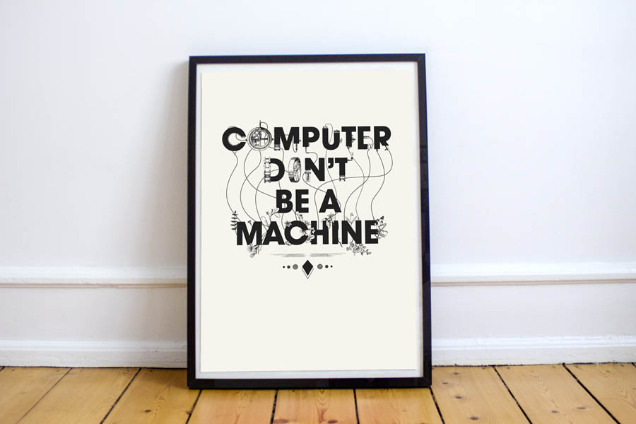 Computer don't be a machine - Studio Ruwedata