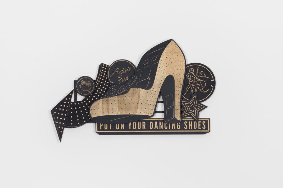 Studio Ruwedata - put on your dancing shoes - wall sculpture artwork