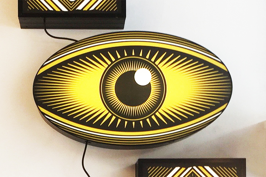 Observed & Served - Studio Ruwedata - lightbox installation artwork