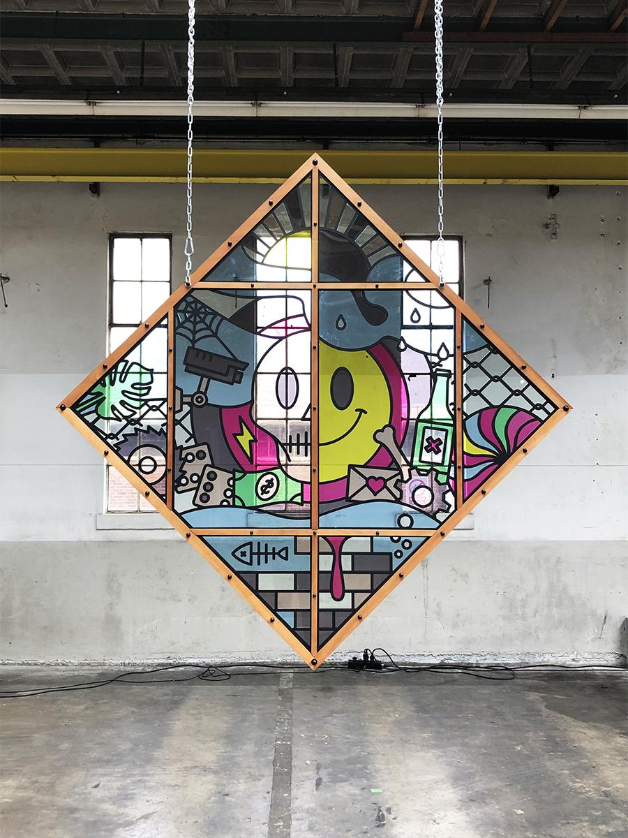 Blind Spot - Studio Ruwedata - BIGART - stained glas