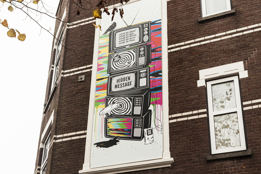 Studio Ruwedata - Hidden Message street art