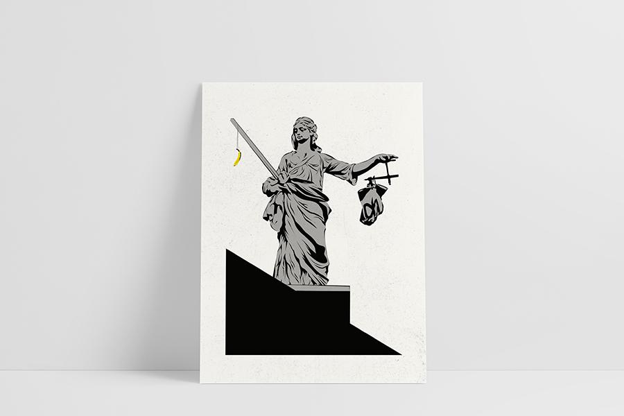Ruwedata poster - statue