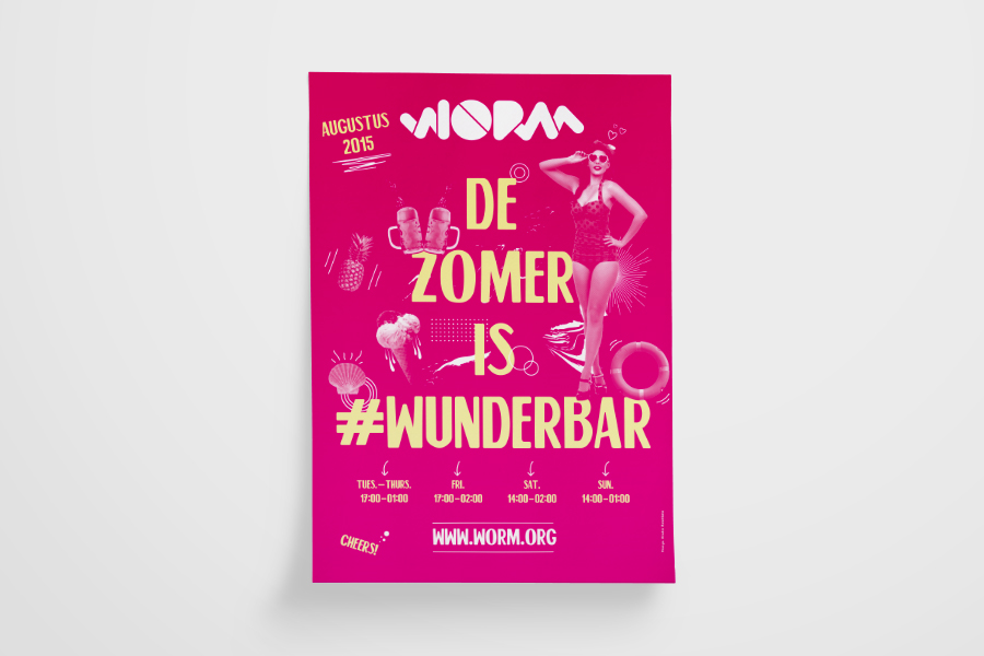 Worm Poster - De Zomer is Wunderbar