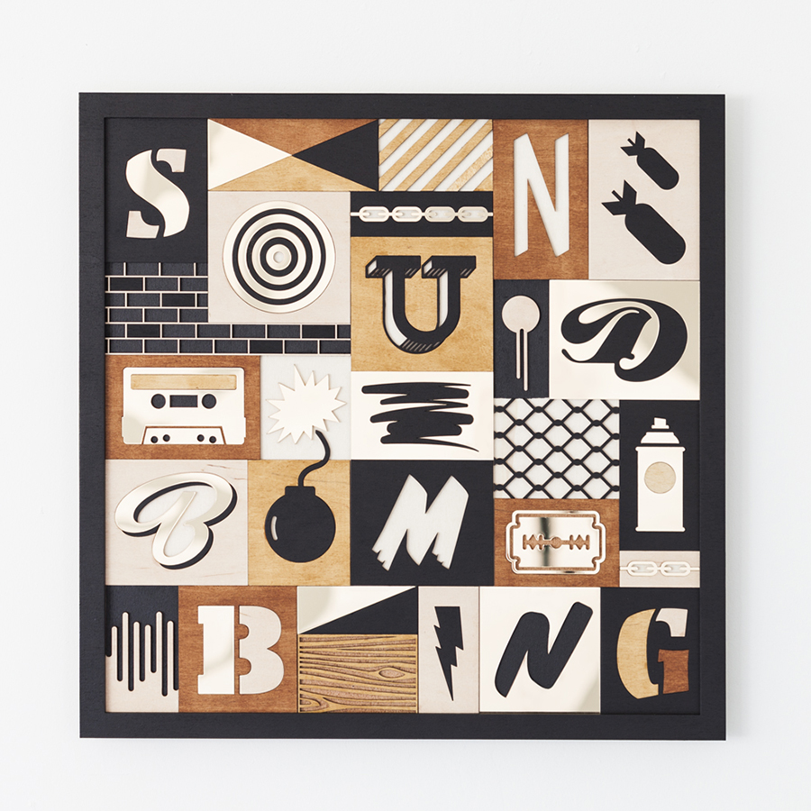 Soundbombing - Studio Ruwedata - layered artwork
